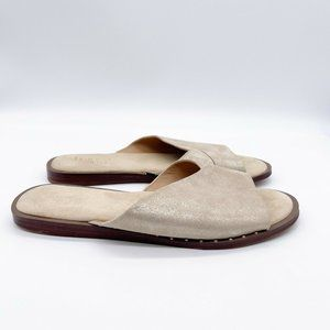 Franco Sarto Sandals Size 7 Gold Leather Riviera